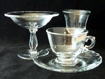 Fostoria CENTURY Wine Glass, Compote, Cup & Saucer GREAT CONDITION • 26.49£