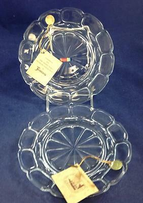 Fostoria ARGUS-CLEAR 2 Luncheon Plates 2770 GREAT CONDITION • 18.32£