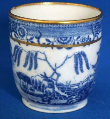 Willow Pattern Blue And White Antique Porcelain Tea Cup • 20£