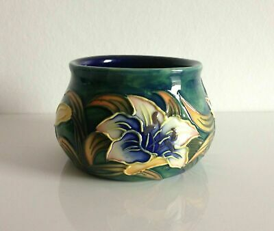 Vintage Old Tupton Ware Small Planter Vase Green Blue Lillies Flowers • 8.99£