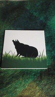 Wemyss Griselda Hill Pottery Tile With Black Pig 6 Inch • 60£