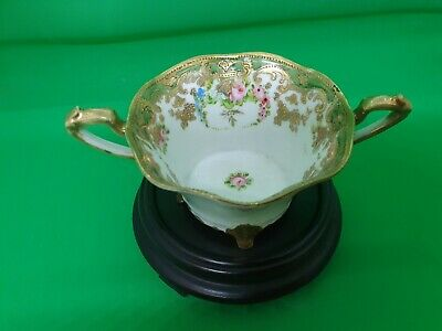Stunning Hand Painted And Gilded Noritake Twin Handled Cup Early Mark. • 29.99£