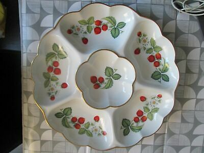 Royal Worcester Strawberries 13 1/2  Large Hors D'oeuvres / Crudite Dish  • 24.50£
