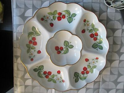 Royal Worcester Strawberries 13 1/2  WIDE Large Hors D'oeuvres / Crudite Dish  • 24.50£
