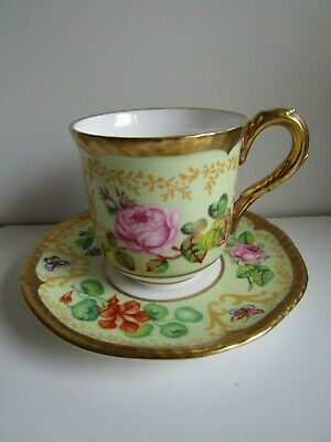 Royal Worcester Samuel Astles English Flowers Demitasse Coffee Cup & Saucer 1990 • 12.50£