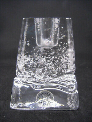 Vintage Dartington Glass Candle Holder Waves Bubbles Rare Thrower • 13.90£