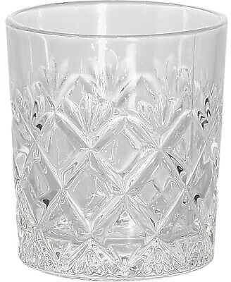 Set Of 6 Cut Crystal Effect Glass Tumblers 230ml Capacity Dishwasher Safe • 9.99£