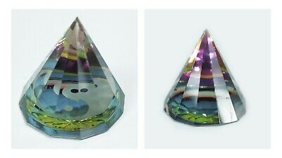 Crystal Pyramids 12 Sided Yin Yang Esoteric Magical And Mystical Colourful Gift • 7.95£