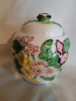 Honey Pot Vintage Ceramic Jar Dorothy Ann.Stoke-On-Trent. • 14£