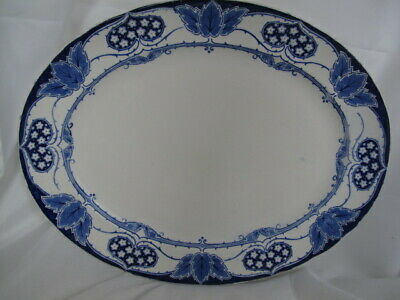 Large Blue & White Flow Blue Meat Plate Server 45cm Approx  • 48£