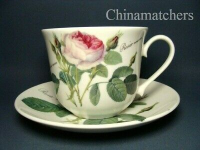Roy Kirkham ~ Redoute Roses Breakfast Cup & Saucer In Excellent Condition • 16.50£