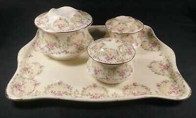 Vintage Crown Ducal Trinket / Condiment Tray With Lidded Containers 4 Piece Set  • 14.95£