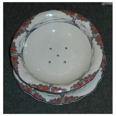 Crown Ducal Orange Tree - Footed Cress Drainer Dish & Undertray  • 27.50£