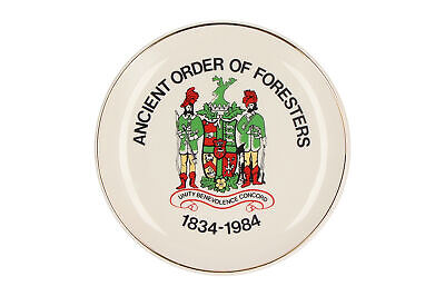 A Prinknash Pottery Ancient Order Of Foresters Plate 1834-1984 • 9.95£