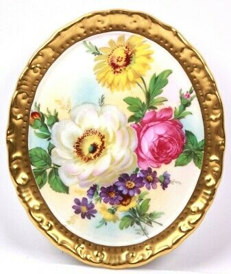 Paragon China Cabbage Rose Wall Plaque Her Majesty The Queen • 150£