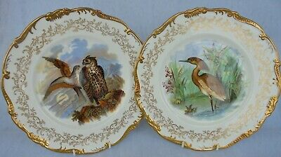 Pair Of  Limited Edition Coalport Plates ~  Decorated With Wild Birds ~ Lovely ! • 48£