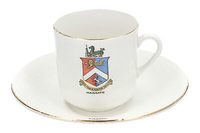 A Margate Crested Cup & Saucer Phoenix Ware • 9.95£