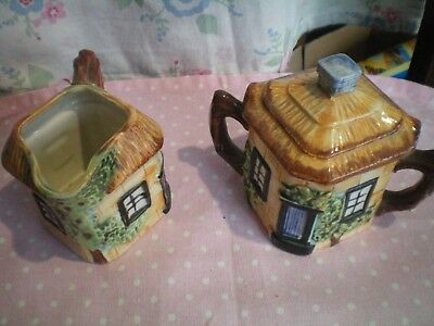 Cottage Style Small Milk Jug And Sugar Pot Vgc • 5.99£