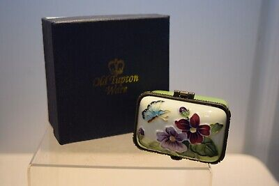 Old Tupton Ware Trinket Box. Pansy & Butterfly Pattern. Boxed. Good Condition. • 13.99£
