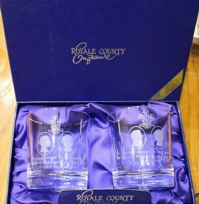 Pair Charles And Diana Wedding Tumblers Engraved • 7.50£