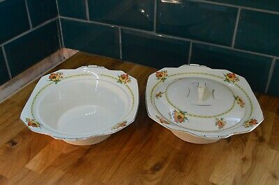 Meakin Art Deco Serving Dishes Pair.. Tureen.. Vegetable.. 1930s • 9.99£