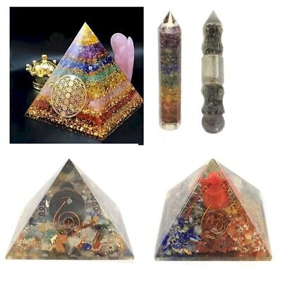 Orgonite Pyramids And Shapes Charged Energy Reiki Chakra Healing Paperweight • 47.44£