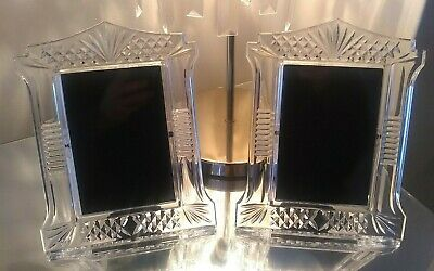 Waterford Crystal Abbeyville Pair Of Photo Frame Perfect - Romany Interest • 110£
