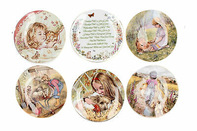 Pam Cooper A Child's Blessing Royal Worcester Crown Ware Plate Collection X 8 • 24.95£