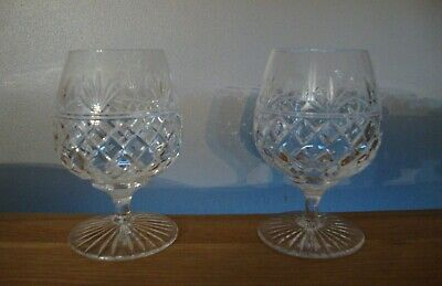Pair Of Stuart Crystal Montrose Brandy Glasses In Excellent Condition • 28.50£