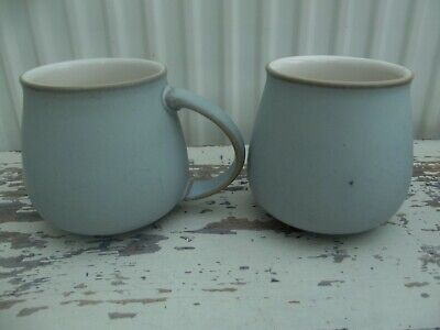 Denby Mist? Pale Blue Mugs X 2 • 12£
