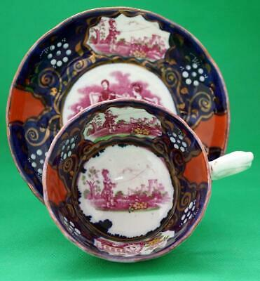 Queen Victoria Gaudy Welsh Pottery Royal Commemorative Cup And Saucer • 65£