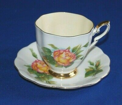 Royal Standard Harry Wheatcroft World Famous Roses Peace Breakfast Cup & Saucer. • 12.99£