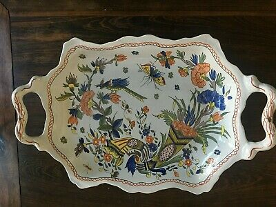 Beautiful Tiffany And Co. Large Tray Hand Painted In France  -MB68- • 238.62£