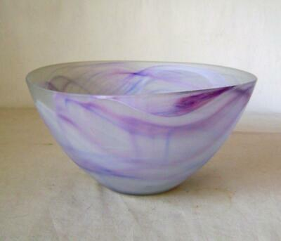 Portmeirion Glass Bowl Light Purple Swirl : 21 Cm Wide 10.5 Cm Deep: Has Label • 22£