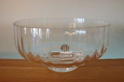Dartington Crystal  8  Footed Fruit / Salad Bowl In Excellent Condition • 24.50£