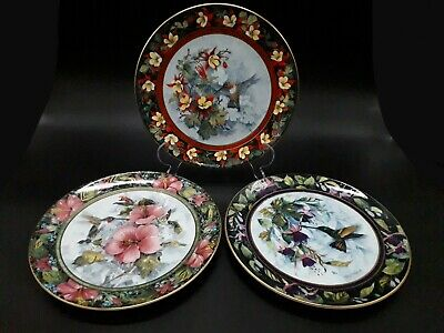Royal Doulton Hummingbird Collectable Plates, The Imperial, Berylline, Rufous X3 • 10.95£