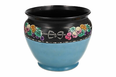 A Shelley Planter Art Deco Black & Blue • 39.95£