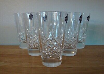 BOXED SET OF 6 X EDINBURGH CRYSTAL HIBALL TUMBLERS IN EXCELLENT / UNUSED COND' • 72.50£