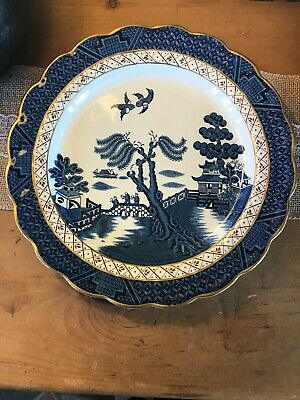 """Vintage Booth's  Real Old Willow  Serving Plate 10.5""""  A8025 • 8£"""