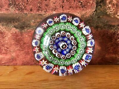 Superb Rare 1852 Antique Victorian Baccarat Four Ring Concentric Paperweight • 785£