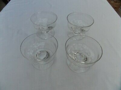 4 X Dartington Sundae Dishes - 4.2 Inches Diameter VGC • 9£
