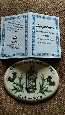 GRISELDA HILL POTTERY WEMYSS Commemorative Limited Edition Ceres Games Plaque  • 125£