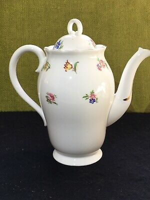 Adderley China Coffee Pot H345 Floral Flowers Possibly For Demitasse Set • 16.20£