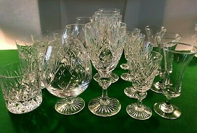 Selection Of Cut Glass Glasses. Used. Excellent Condition • 5£