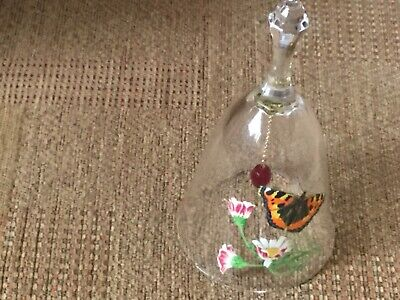 Gorgeous ?crystal Bell With Butterfly/flowers & Crystal Ringer • 3.99£