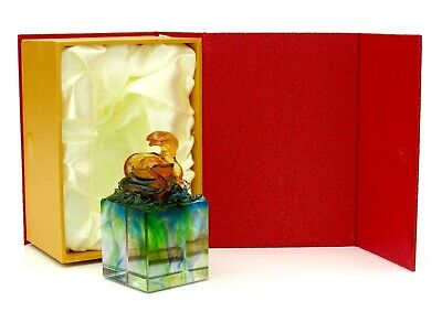Art Glass Snake Sculpture & Box Private French Glass Collection • 11.50£