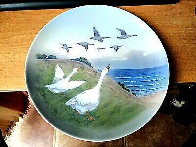 A Royal Copenhagen Plate With Flying Geese Decoration. Good Condition • 7.99£