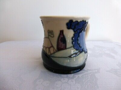 Moorcroft Blue Trees, Bottle Oven/Kiln Collectors Club 1992 Mug, Great Condition • 45£