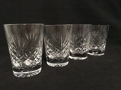 """Bohemian Crystal Set Of Four Shot Glasses, Unsigned, 3"""" Tall • 19.95£"""