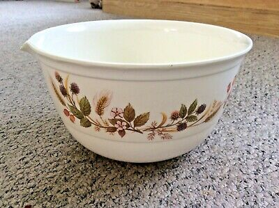 Vintage Marks & Spencer M&S Melamine Pouring Mixing Bowl Harvest Pattern (M1) • 9.99£